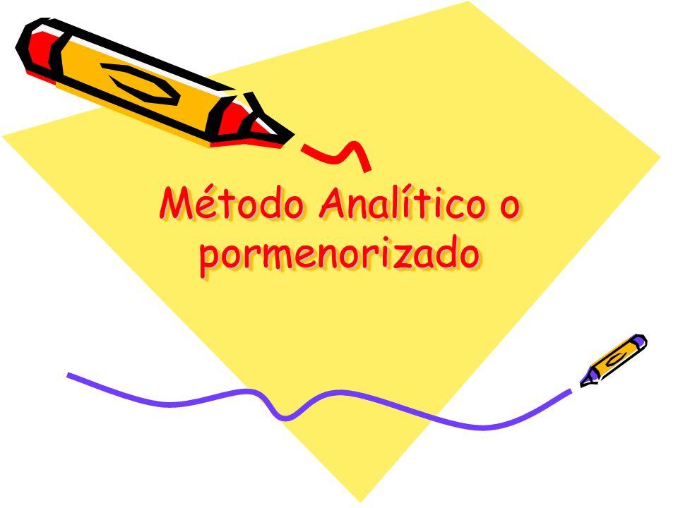 Método Analítico o pormenorizado