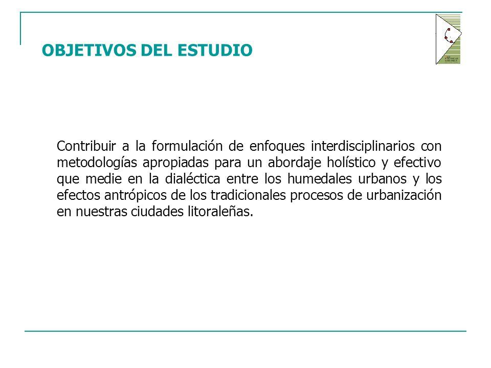 Contribuir a la formulación de enfoques interdisciplinarios con metodologías apropiadas para un abordaje holístico y efectivo que medie en la dialéctica entre los humedales urbanos y los efectos antrópicos de los tradicionales procesos de urbanización en nuestras ciudades litoraleñas.