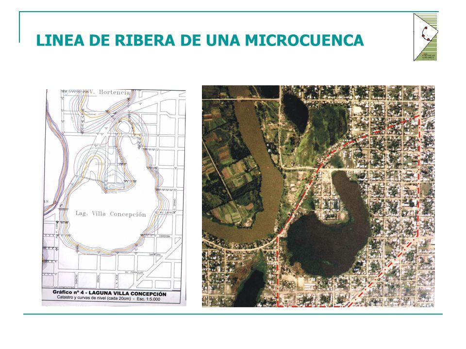 LINEA DE RIBERA DE UNA MICROCUENCA