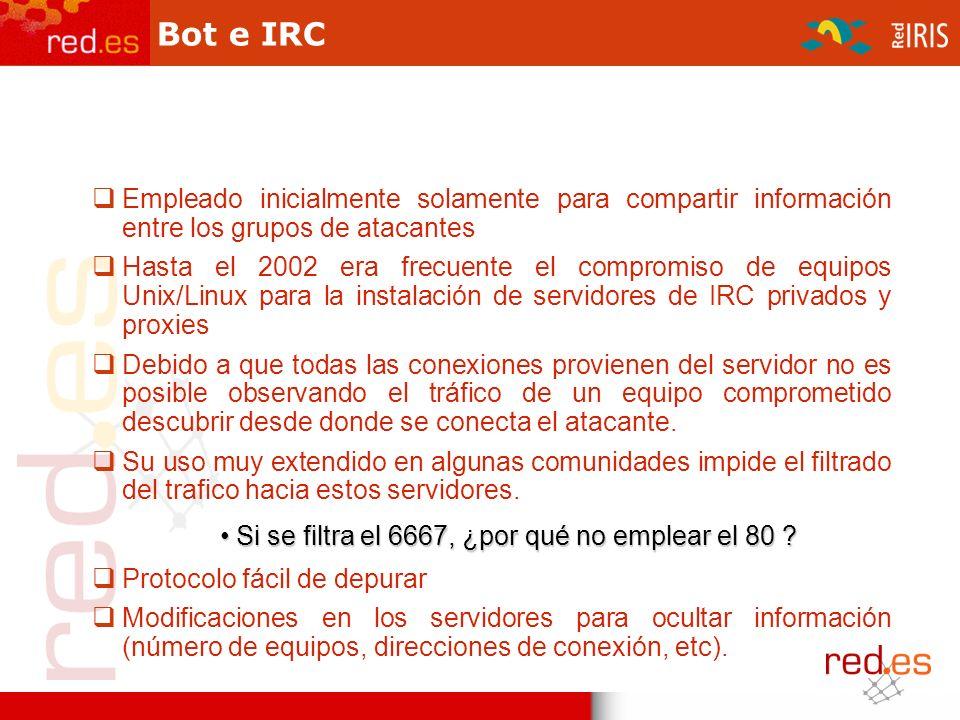 ¿Cómo sabe un bot donde encontrar su servidor de IRC .