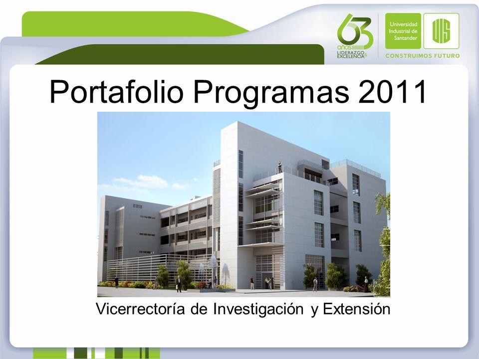 Portafolio Programas 2011 Vicerrectoría de Investigación y Extensión