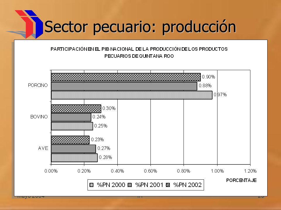 Mayo 2004IIT23 Sector pecuario: producción