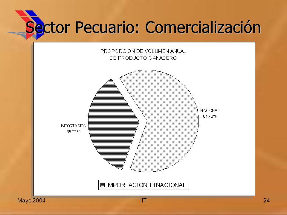 Mayo 2004IIT24 Sector Pecuario: Comercialización