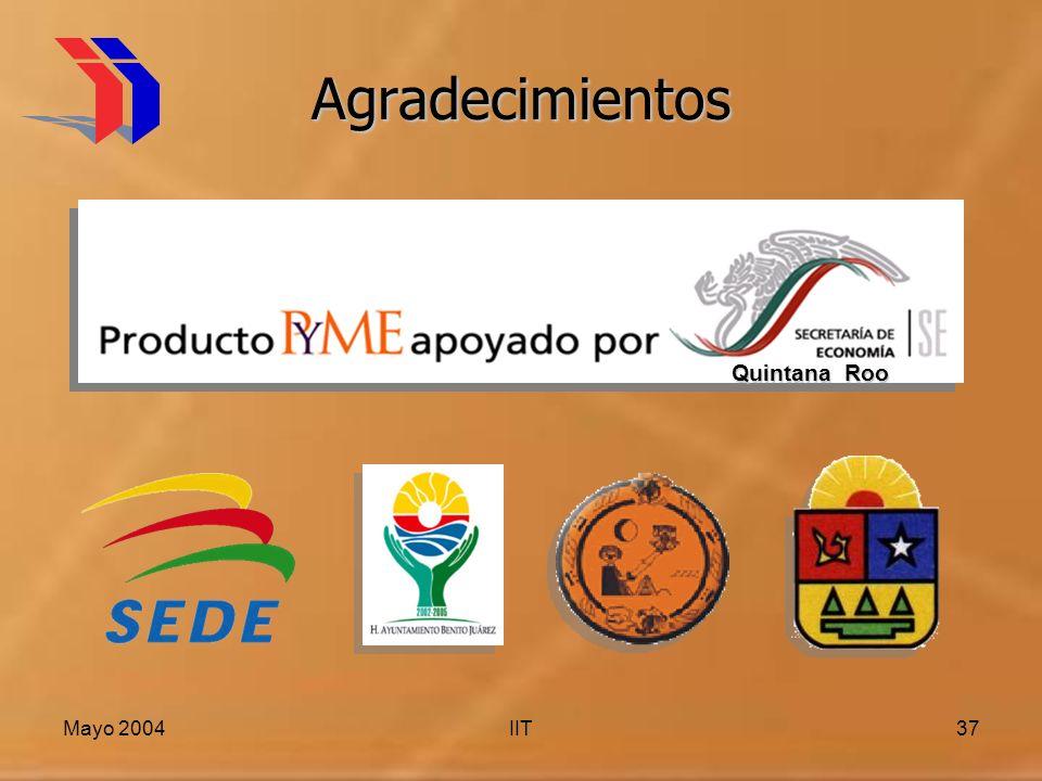 Mayo 2004IIT37 Agradecimientos Quintana Roo