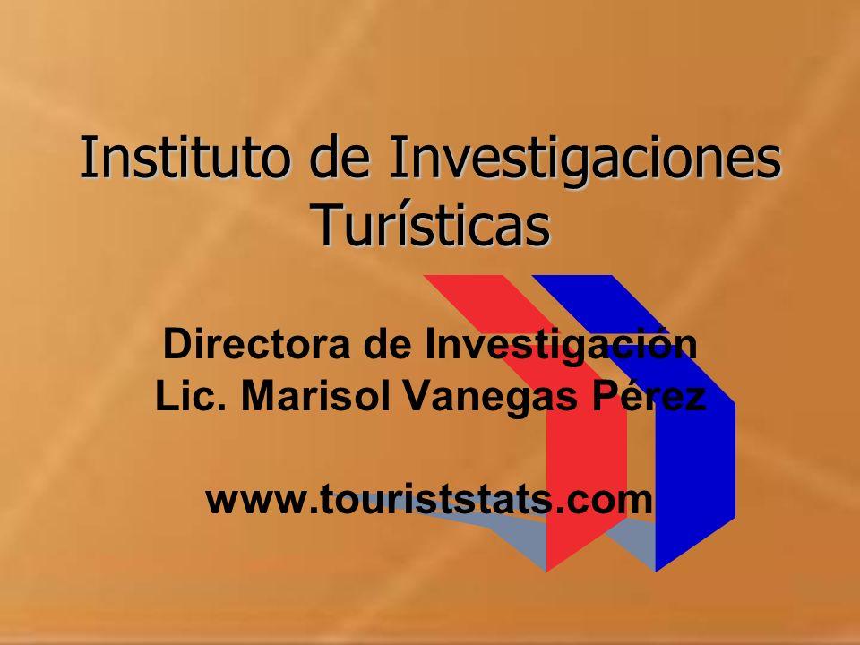 Instituto de Investigaciones Turísticas Directora de Investigación Lic. Marisol Vanegas Pérez www.touriststats.com
