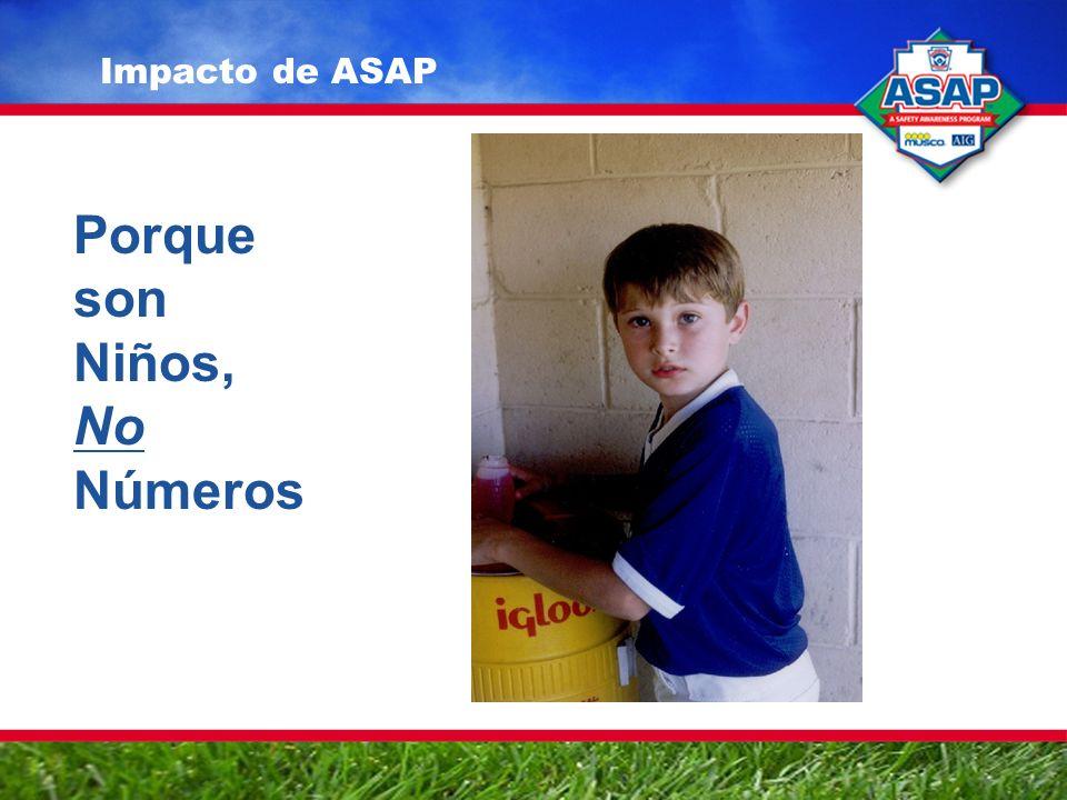 Impacto de ASAP Porque son Niños, No Números