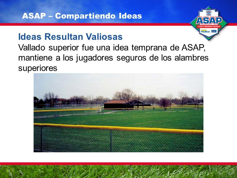 Ideas Resultan Valiosas Vallado superior fue una idea temprana de ASAP, mantiene a los jugadores seguros de los alambres superiores ASAP – Compartiendo Ideas