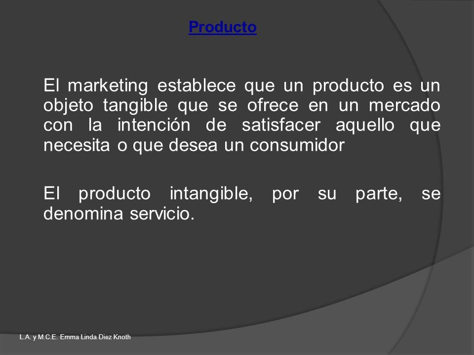 El marketing establece que un producto es un objeto tangible que se ofrece en un mercado con la intención de satisfacer aquello que necesita o que des