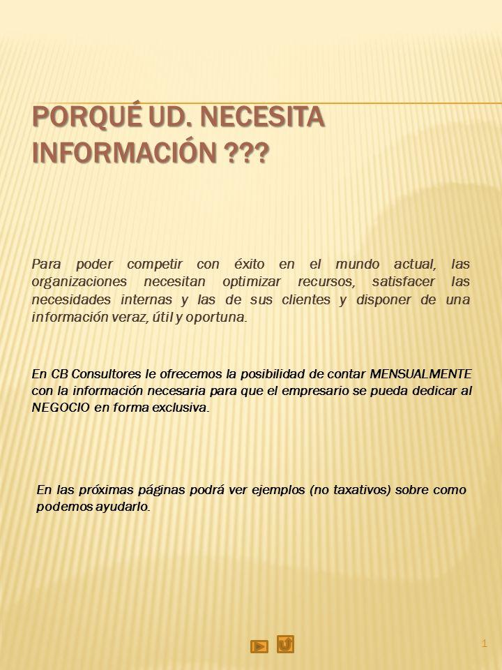 2 Objetivo: Que la empresa cuente con información continua sobre el avance de sus negocios.