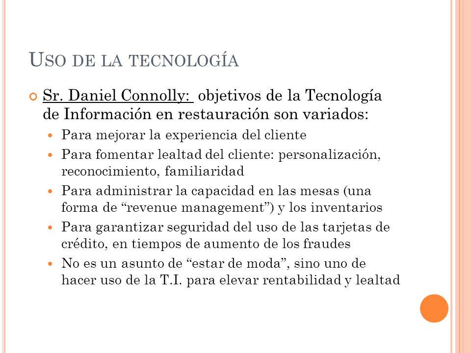 U SO DE LA TECNOLOGÍA Sr.