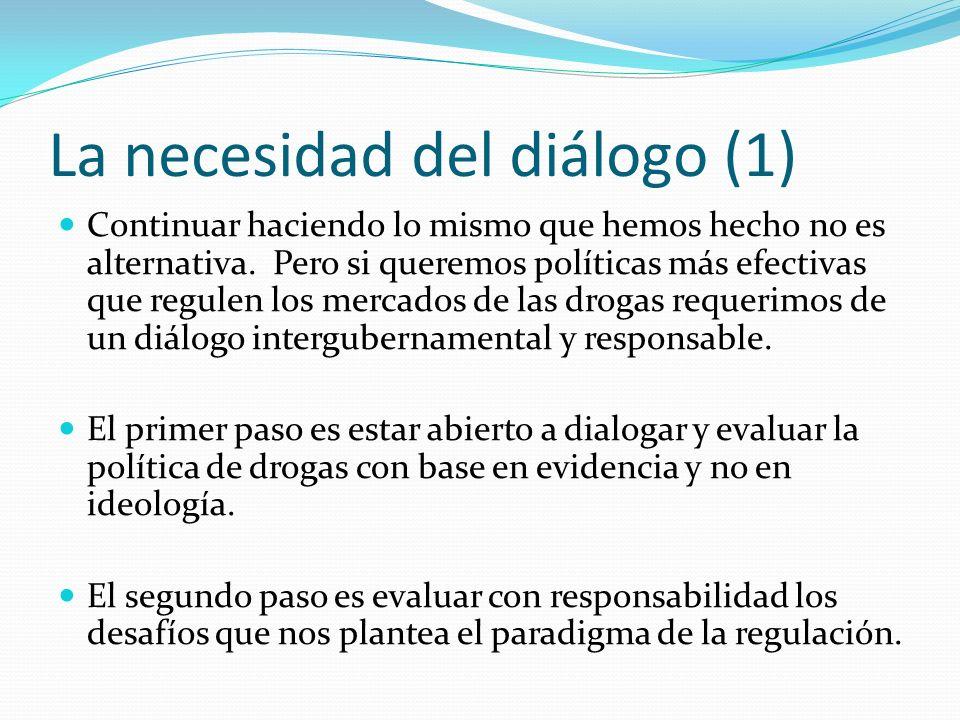 La necesidad del diálogo (1) Continuar haciendo lo mismo que hemos hecho no es alternativa.