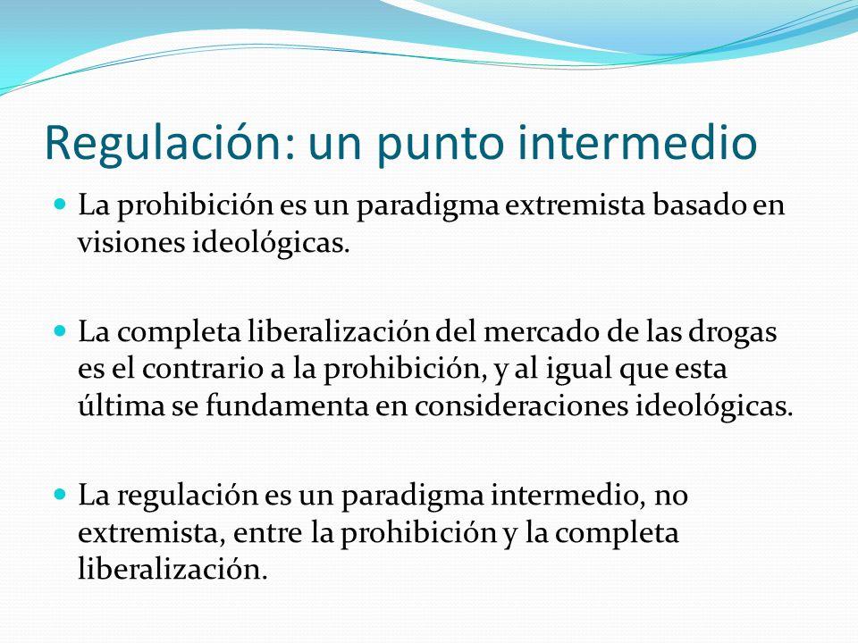 Regulación: un punto intermedio La prohibición es un paradigma extremista basado en visiones ideológicas.