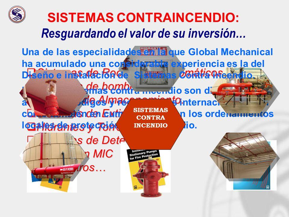 INSTALACIONES DE PROCESO Equipamientos y sistemas de tuberías para diferentes servicios en edificios.