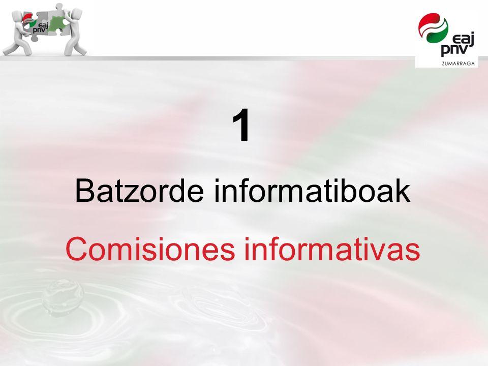 1 Batzorde informatiboak Comisiones informativas