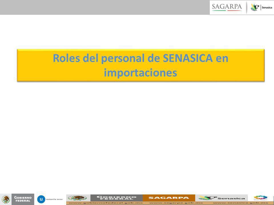 Roles del personal de SENASICA en importaciones