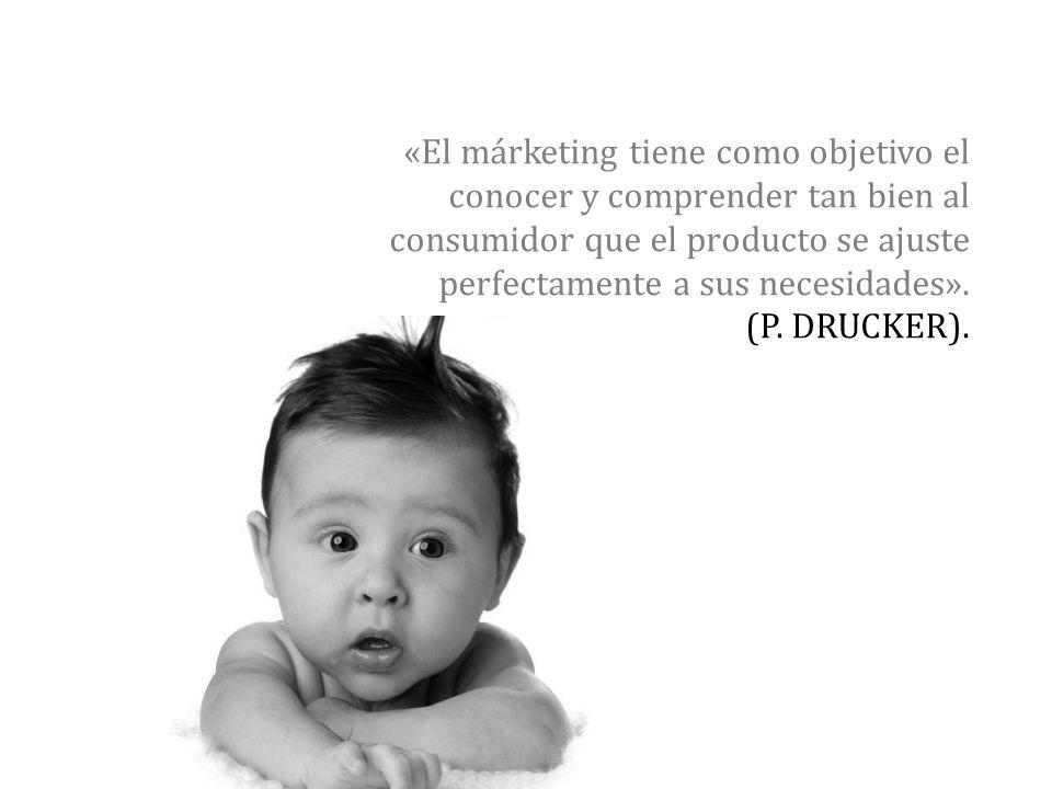 «El márketing tiene como objetivo el conocer y comprender tan bien al consumidor que el producto se ajuste perfectamente a sus necesidades». (P. DRUCK