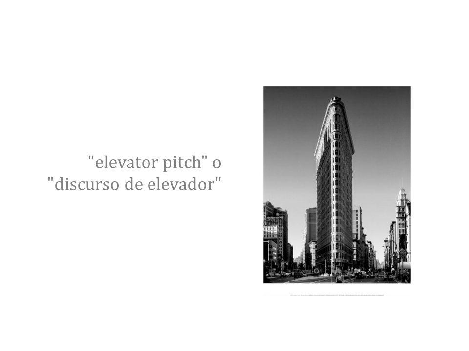 elevator pitch o discurso de elevador