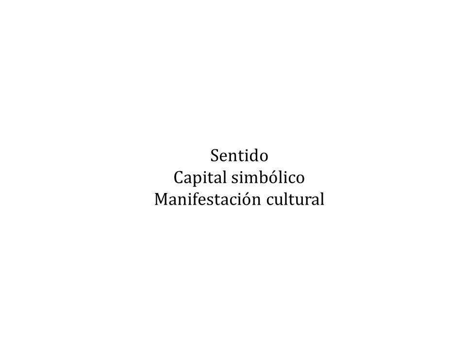 Sentido Capital simbólico Manifestación cultural