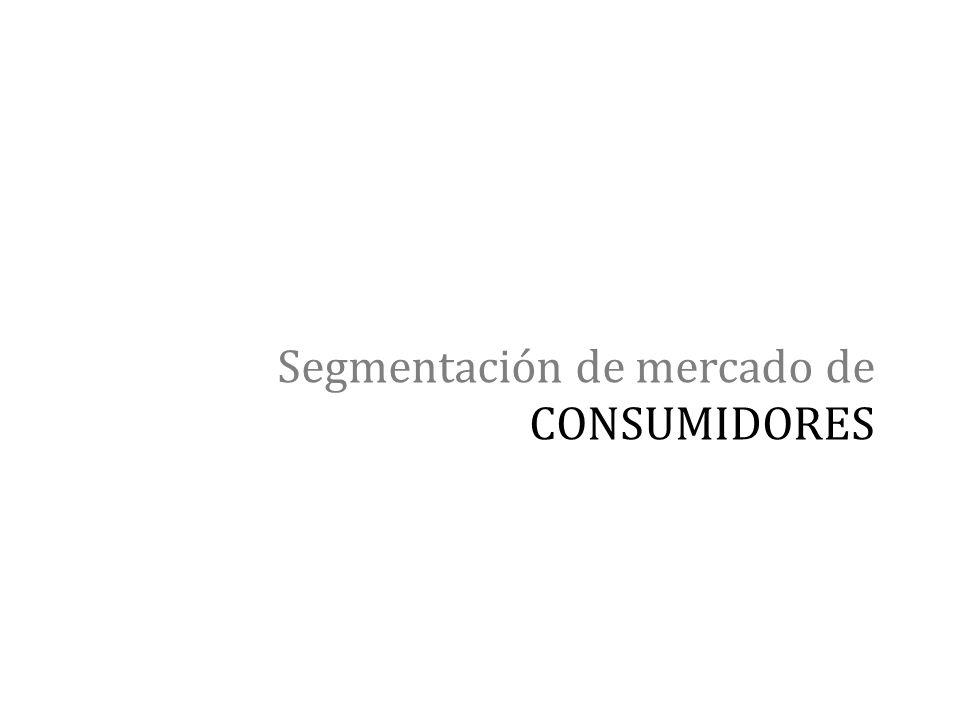 Segmentación de mercado de CONSUMIDORES