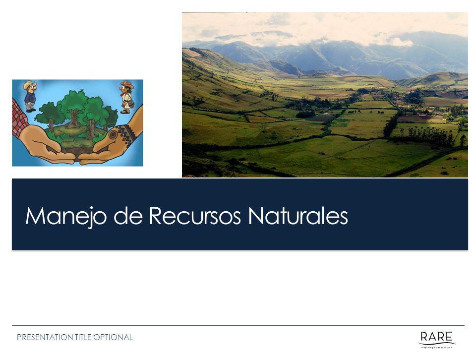Manejo de Recursos Naturales PRESENTATION TITLE OPTIONAL