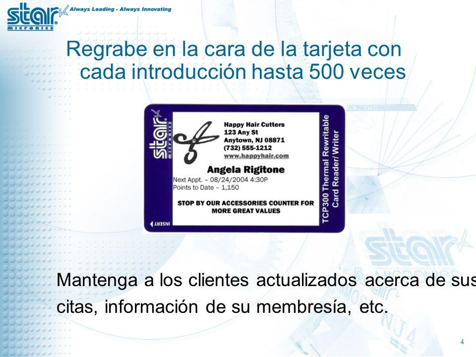 Codifique datos de los clientes en banda magnética Amanda Q.