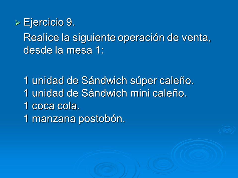 Ejercicio 9. Ejercicio 9.