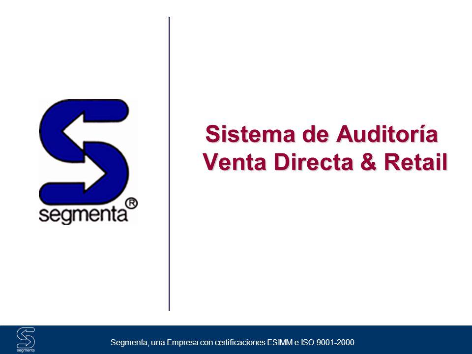 Segmenta, una Empresa con certificaciones ESIMM e ISO 9001-2000 Índice ¿Quiénes somos.