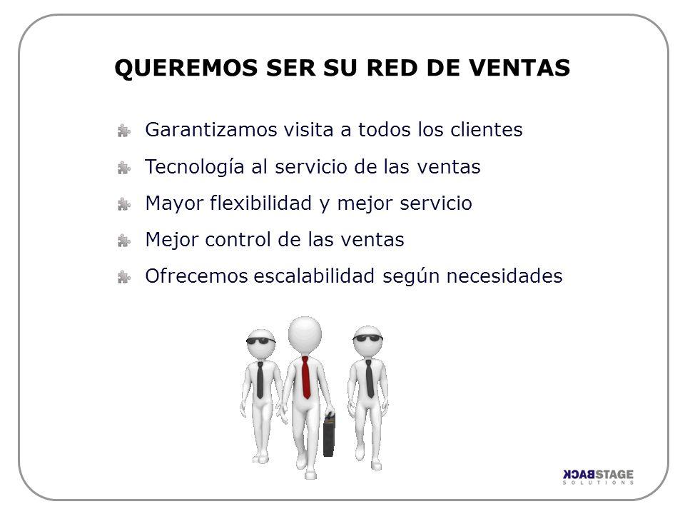 Garantizamos visita a todos los clientes Tecnología al servicio de las ventas Mayor flexibilidad y mejor servicio Mejor control de las ventas Ofrecemo