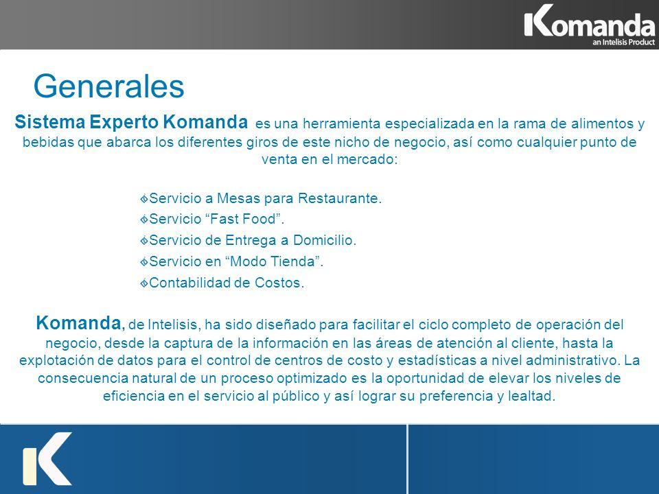 Sistema Experto Komanda es una herramienta especializada en la rama de alimentos y bebidas que abarca los diferentes giros de este nicho de negocio, a