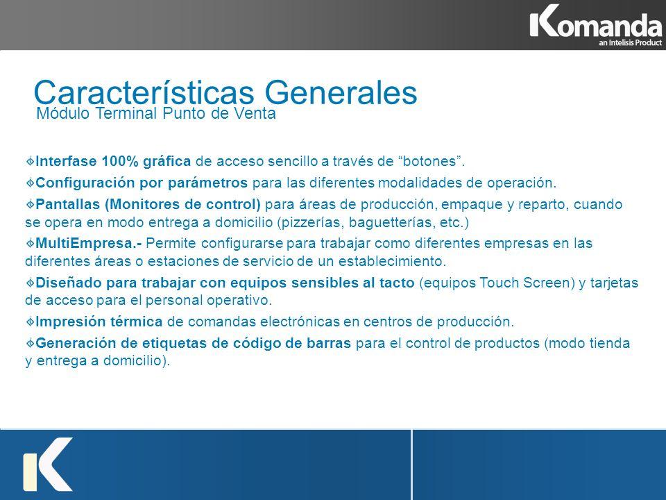 Interfase 100% gráfica de acceso sencillo a través de botones. Configuración por parámetros para las diferentes modalidades de operación. Pantallas (M