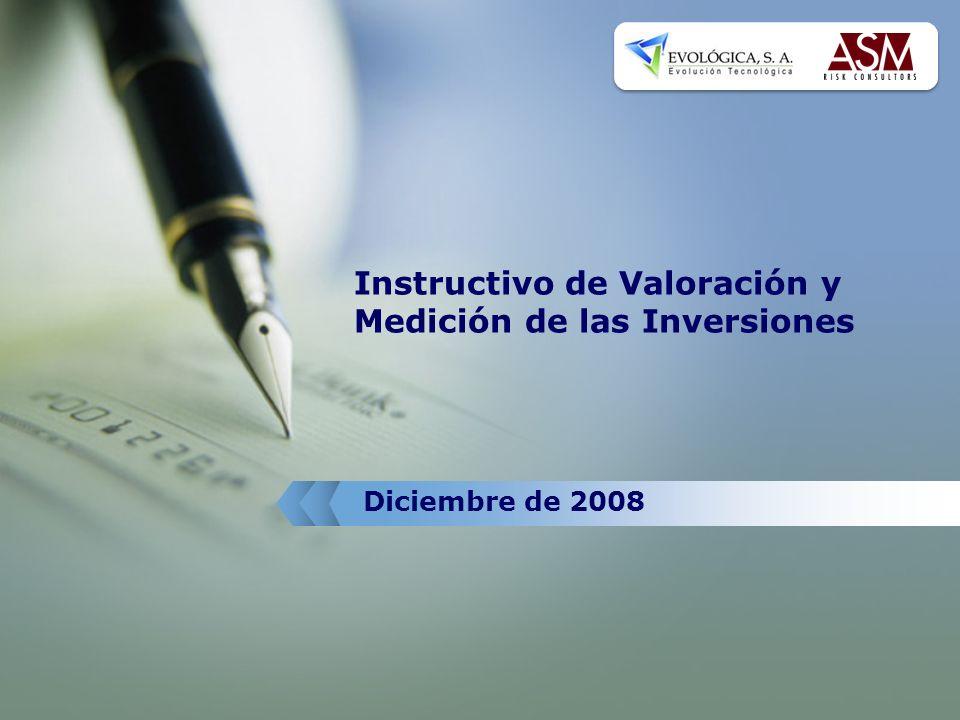 Instructivo de Valoración y Medición de las Inversiones Diciembre de 2008