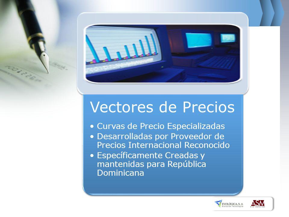 Vectores de Precios Curvas de Precio Especializadas Desarrolladas por Proveedor de Precios Internacional Reconocido Específicamente Creadas y mantenidas para República Dominicana