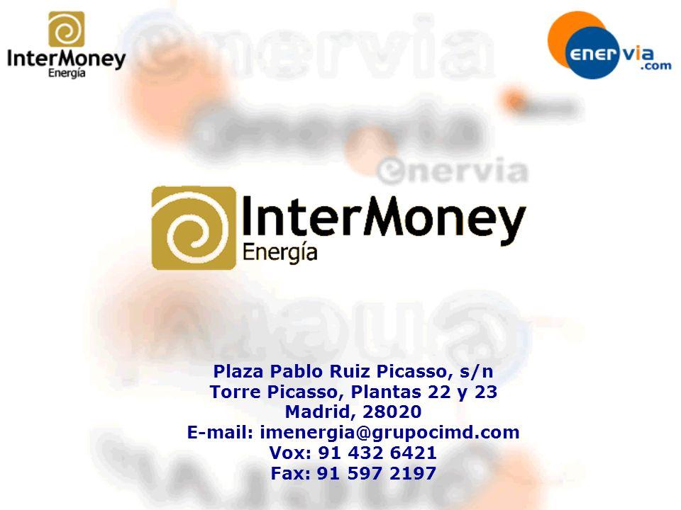 Plaza Pablo Ruiz Picasso, s/n Torre Picasso, Plantas 22 y 23 Madrid, 28020 E-mail: imenergia@grupocimd.com Vox: 91 432 6421 Fax: 91 597 2197
