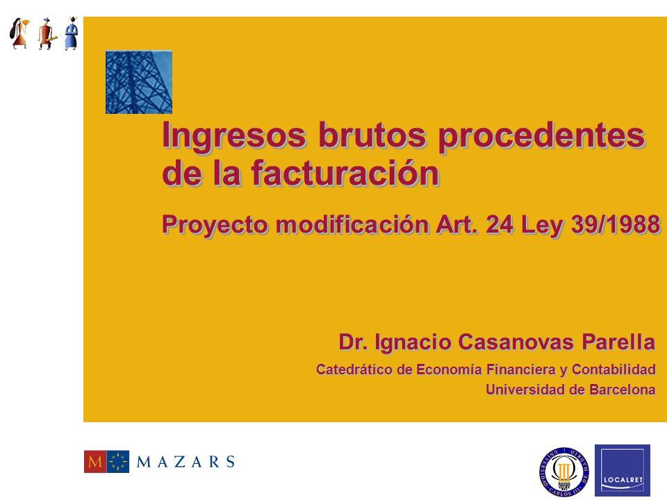 La Tributación de los Servicios Públicos liberalizados en el marco de la reforma de la Ley Reguladora de las Haciendas Locales Madrid 18 noviembre 200