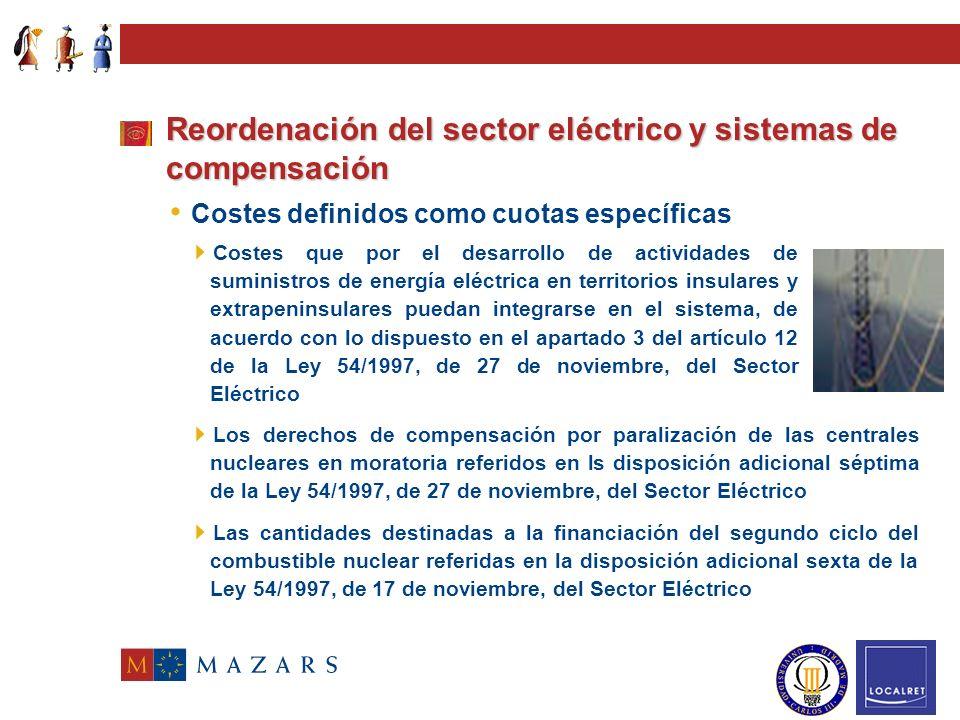 Generación Consumidores finales Consumidores cualificados Consumidores finales Consumidores cualificados Operador Mercado Transporte Distribución Come