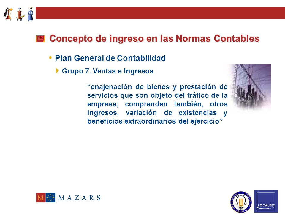 Art.189. Estructura Cta. Pérdidas y Ganancias Concepto de ingreso en las Normas Contables Art.