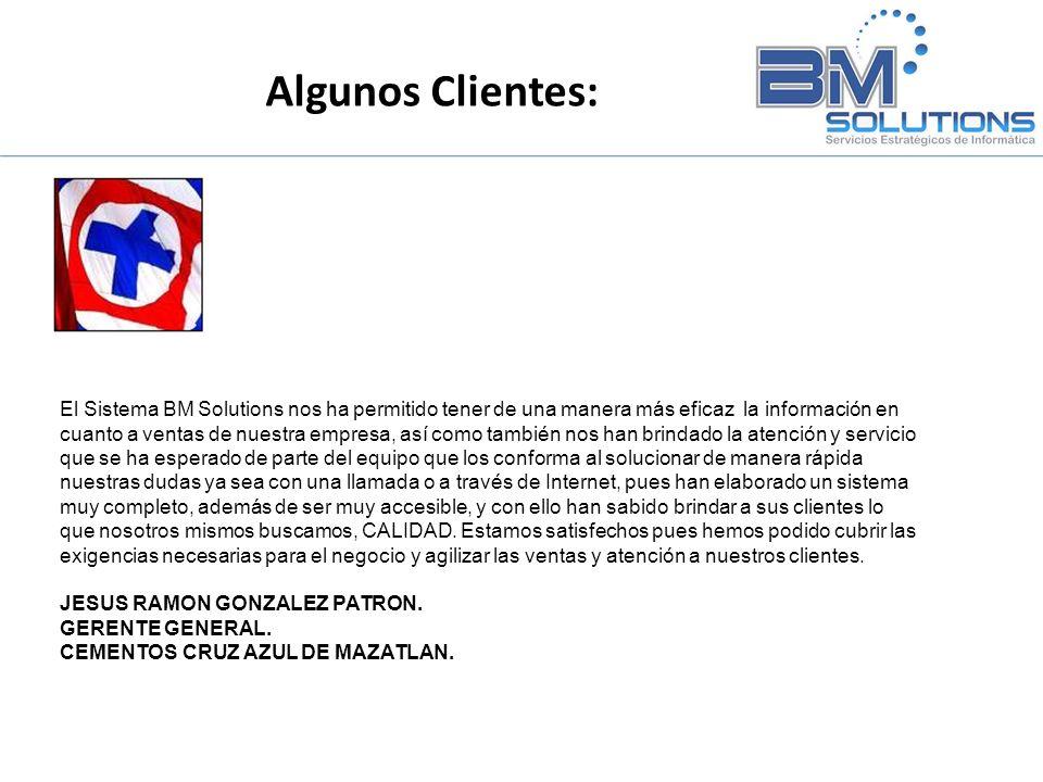 El Sistema BM Solutions nos ha permitido tener de una manera más eficaz la información en cuanto a ventas de nuestra empresa, así como también nos han