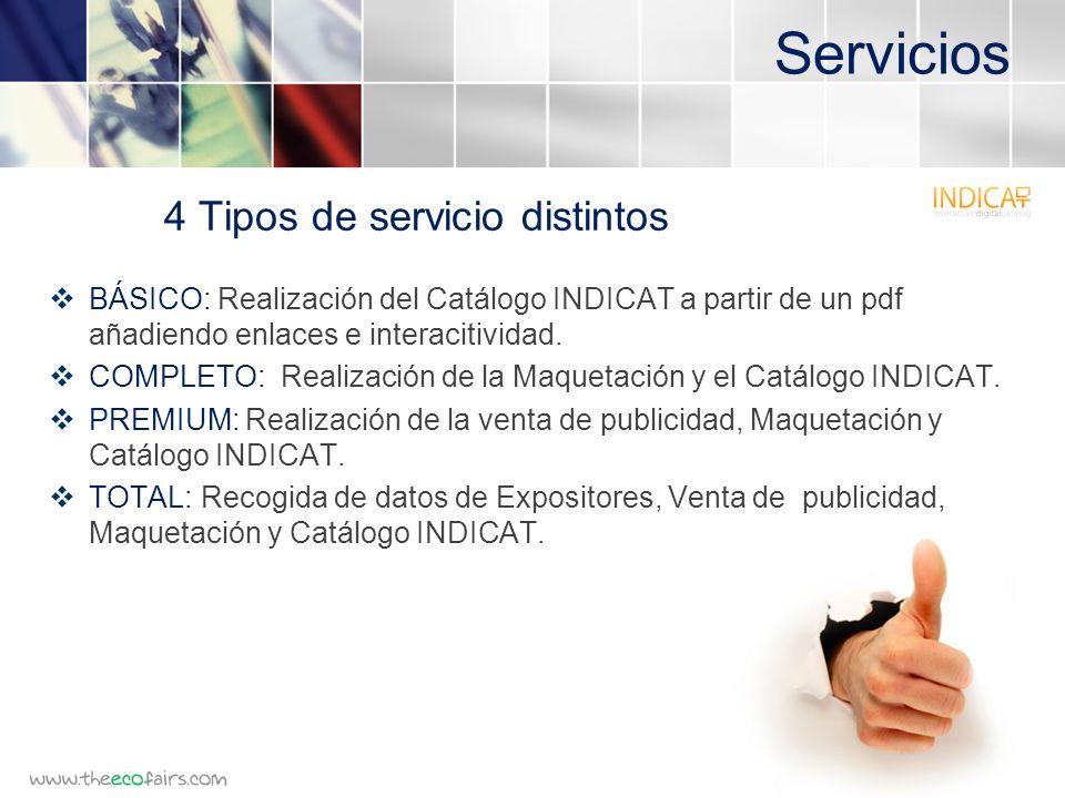 Servicios BÁSICO: Realización del Catálogo INDICAT a partir de un pdf añadiendo enlaces e interacitividad.