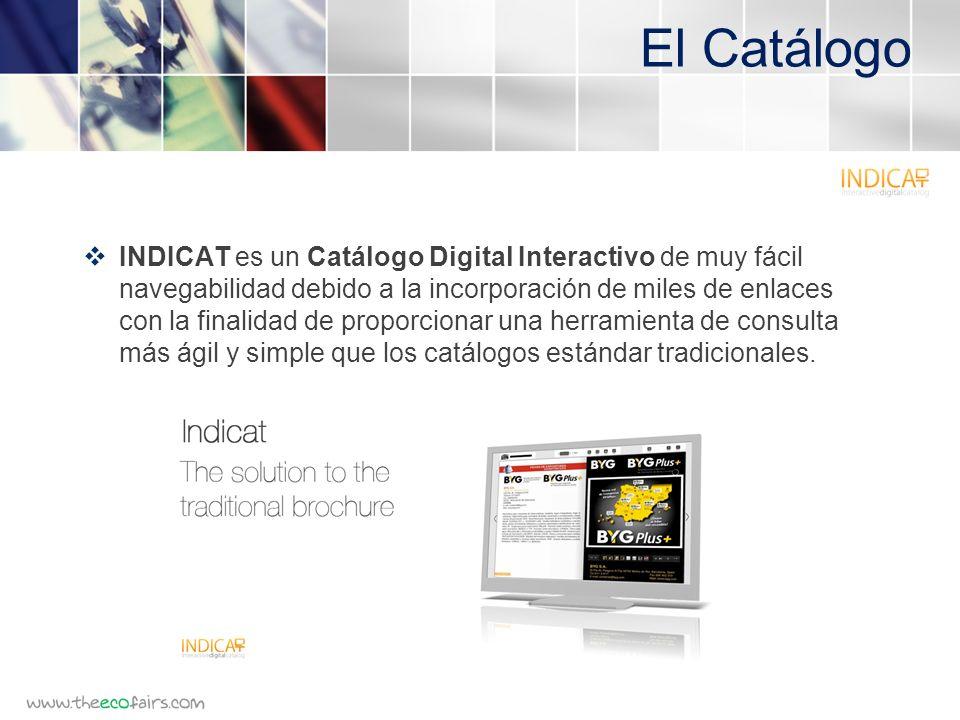 El Catálogo INDICAT es un Catálogo Digital Interactivo de muy fácil navegabilidad debido a la incorporación de miles de enlaces con la finalidad de proporcionar una herramienta de consulta más ágil y simple que los catálogos estándar tradicionales.