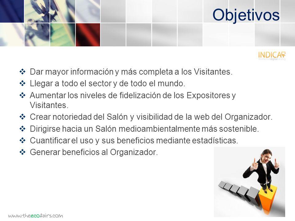 Objetivos Dar mayor información y más completa a los Visitantes.