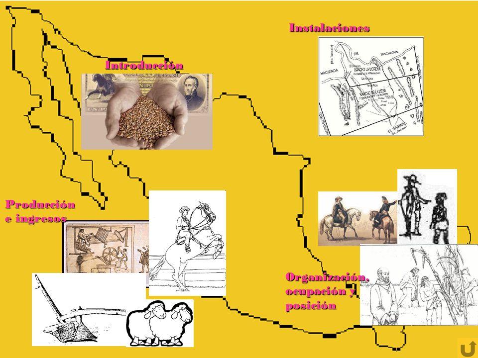Principales zonas donde se ubican las haciendas en México (gracias a la riqueza de los recursos naturales)