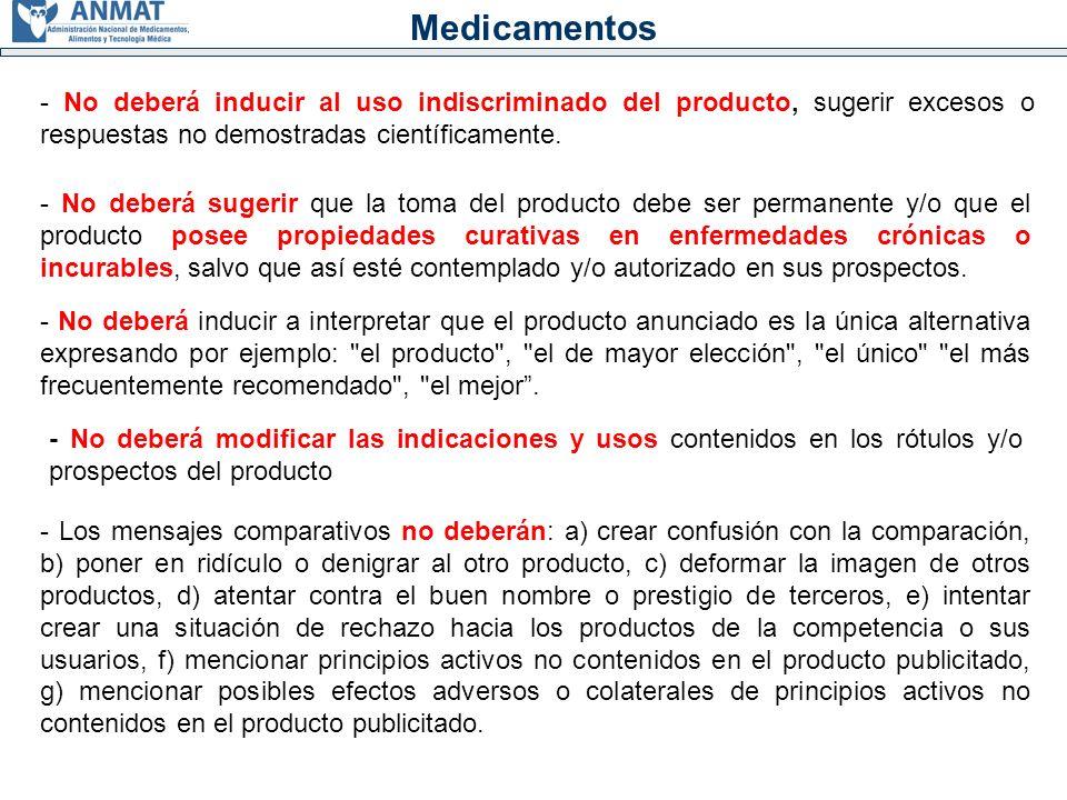 Análisis 2008: Medicamentos - Categorías de infracciones: a) En la EXAGERACION del efecto o de resultado.