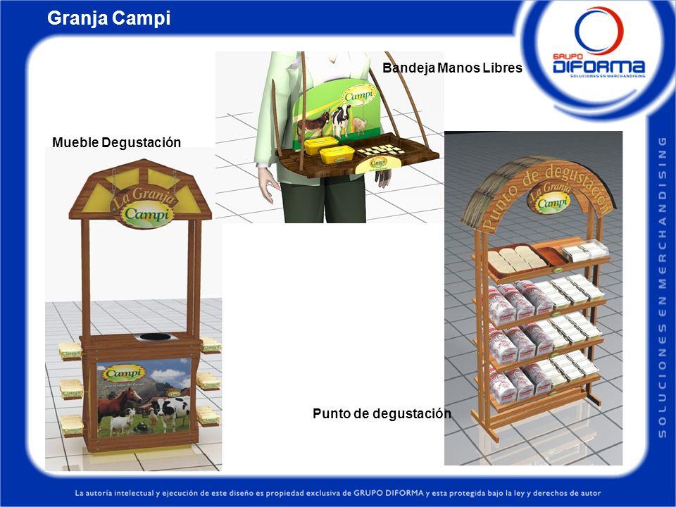 Mueble Degustación Bandeja Manos Libres Punto de degustación