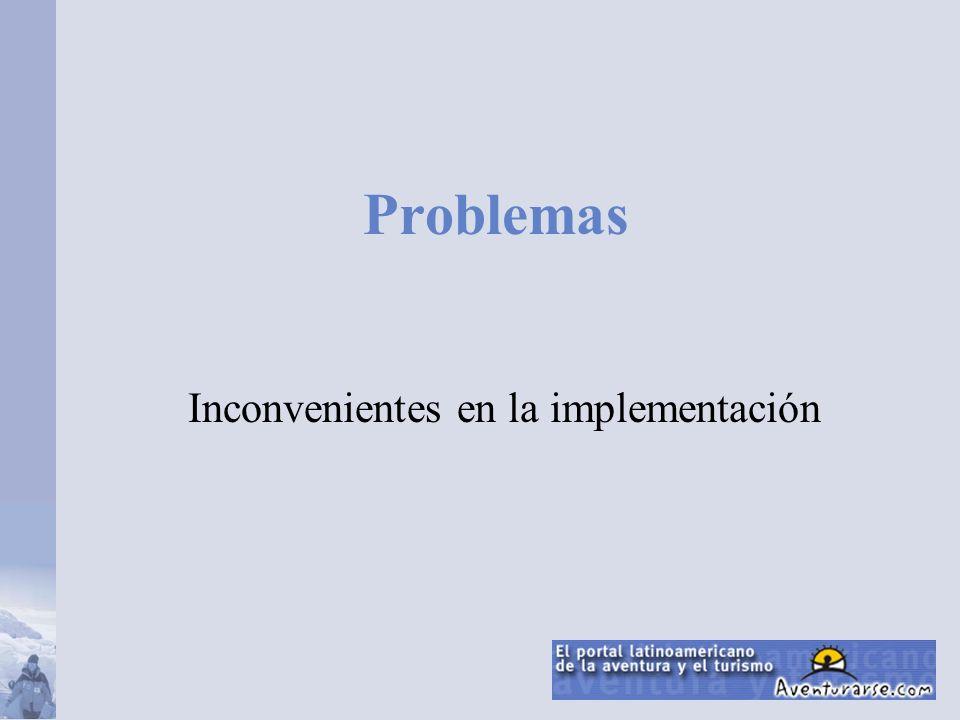 Problemas Inconvenientes en la implementación
