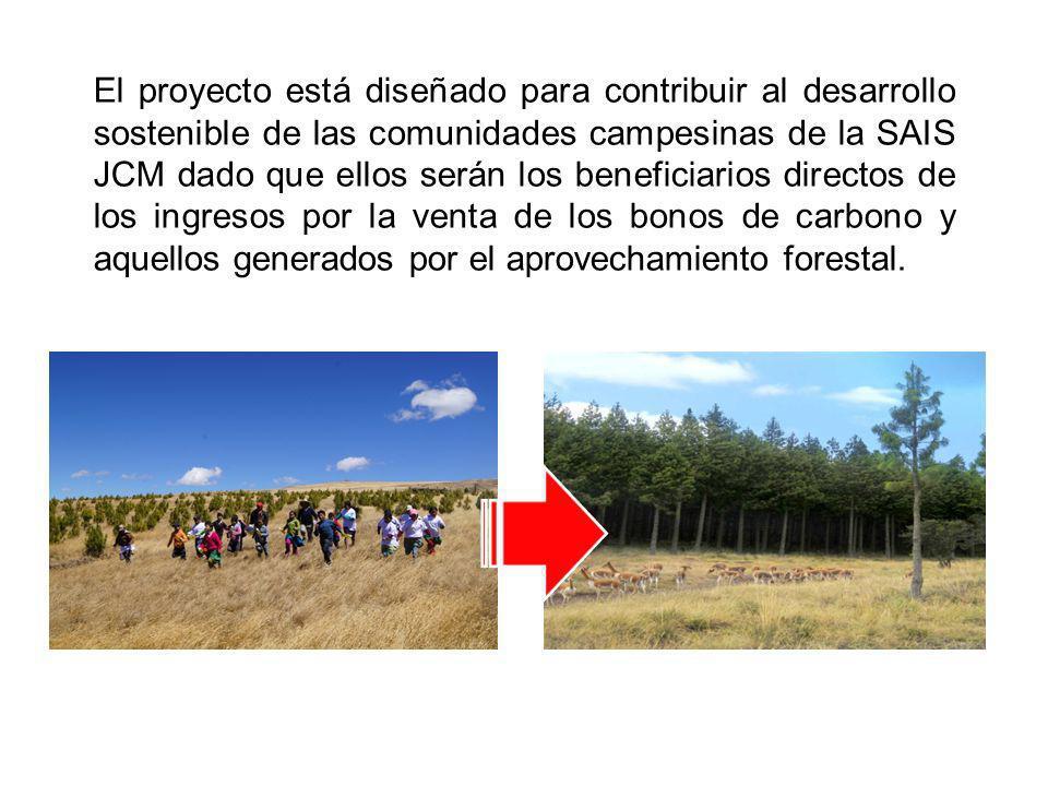 El proyecto está diseñado para contribuir al desarrollo sostenible de las comunidades campesinas de la SAIS JCM dado que ellos serán los beneficiarios
