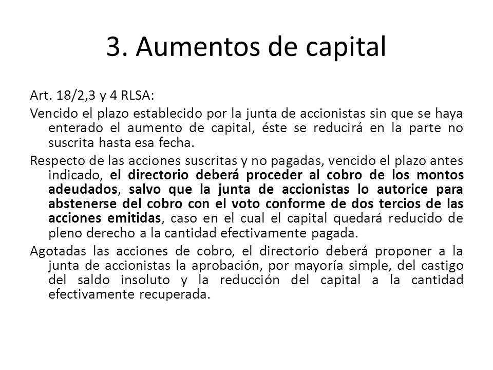 3.Aumentos de capital Art.