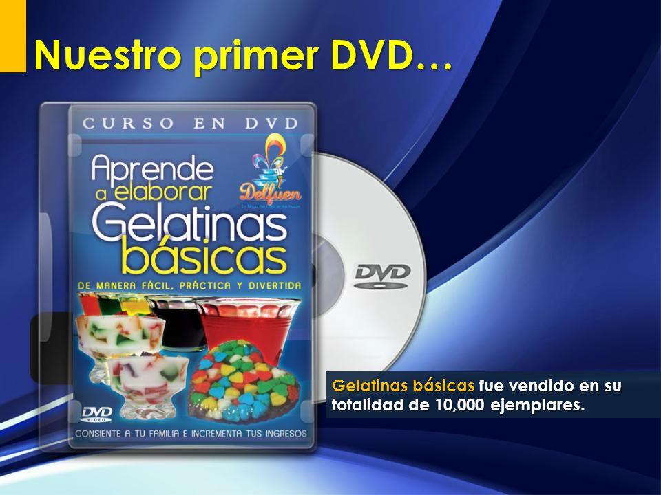 Gelatinas básicas fue vendido en su totalidad de 10,000 ejemplares. Nuestro primer DVD…