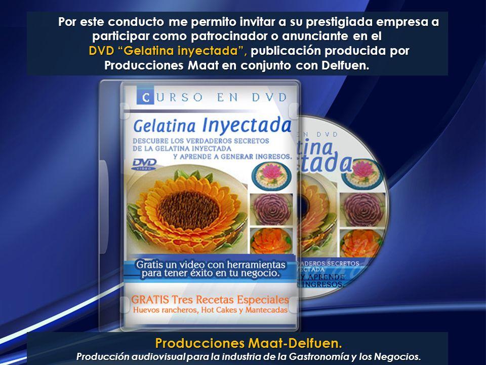 Producciones Maat-Delfuen. Producción audiovisual para la industria de la Gastronomía y los Negocios. Por este conducto me permito invitar a su presti