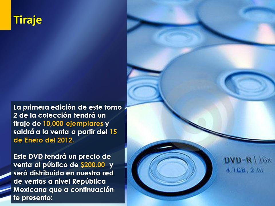 La primera edición de este tomo 2 de la colección tendrá un tiraje de 10,000 ejemplares y saldrá a la venta a partir del 15 de Enero del 2012. Este DV