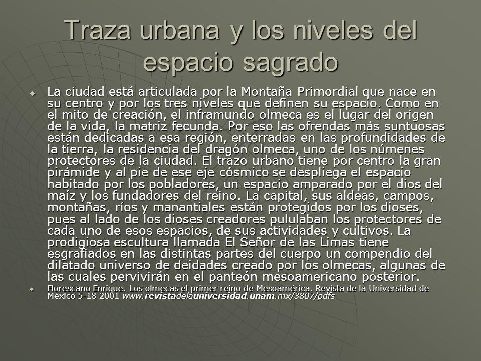 Traza urbana y los niveles del espacio sagrado La ciudad está articulada por la Montaña Primordial que nace en su centro y por los tres niveles que de